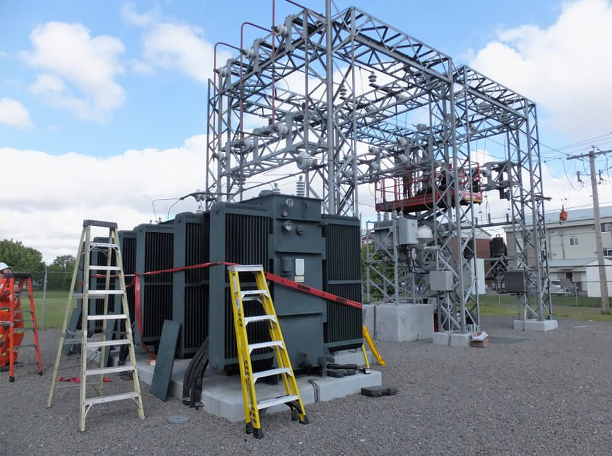 Le Groupe LML | Station électrique extérieure et gravier